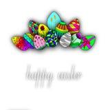 Happy easter egg  illustration Stock Images