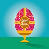 Happy easter egg illustration with font Royalty Free Stock Images