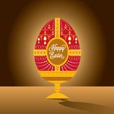Happy easter egg illustration with font Stock Photography