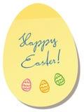 Happy Easter Egg Memo Sticker Stock Photos