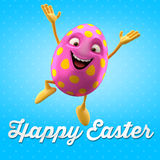 Happy Easter egg, merry 3D set, spring series, happy cartoon object Royalty Free Stock Photography