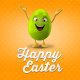 Happy Easter egg, merry 3D set, spring series, happy cartoon object Stock Photos