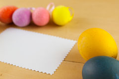 Happy easter. Easter egg paper background texture Royalty Free Stock Photo