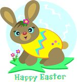 Happy Easter Egg Rabbit Royalty Free Stock Image