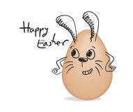 Happy easter with egg rabbit Stock Images