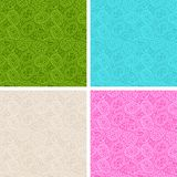 Happy Easter egg seamless patterns set Royalty Free Stock Image