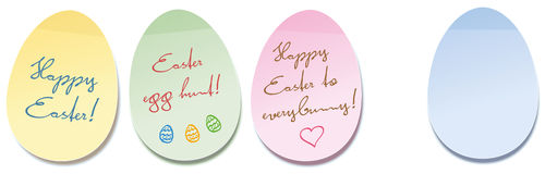 Happy Easter Egg Self Stick Notes Royalty Free Stock Images