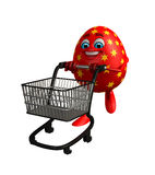 Happy Easter Egg with trolley Royalty Free Stock Image