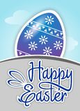 Happy easter with egg Vector Illustration Royalty Free Stock Photography