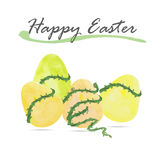 Happy Easter egg and vine background Royalty Free Stock Photography