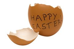 Happy Easter Egg w/ Path Royalty Free Stock Images