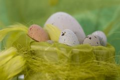 Happy easter - eggs Royalty Free Stock Photos