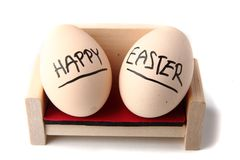Happy easter eggs Stock Photo