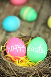 Happy Easter eggs Stock Photos