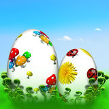 Happy Easter Eggs. Easter card for background or decoration Royalty Free Stock Images