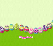 Happy easter eggs background Royalty Free Stock Photo