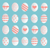 Happy Easter eggs background Royalty Free Stock Photos