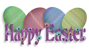 Happy Easter Eggs Border Graphic royalty free stock image