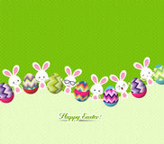 Happy easter eggs and bunny background Royalty Free Stock Photo