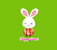 Happy easter eggs and bunny funny Stock Photos
