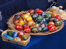 Happy Easter with eggs coming Royalty Free Stock Image