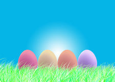 Happy Easter and eggs Easter. Sky backgrounds Royalty Free Stock Image