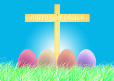 Happy Easter and eggs Easter. Sky backgrounds Royalty Free Stock Photography