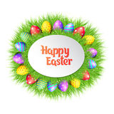Happy Easter eggs frame. Royalty Free Stock Photography
