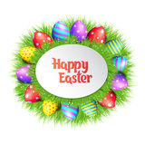Happy Easter eggs frame. Stock Photos
