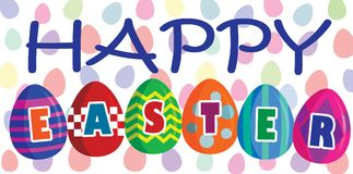 Happy Easter. With eggs full color royalty free illustration