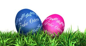 Happy Easter eggs in German Stock Photography