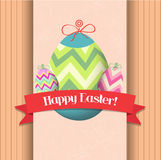 Happy easter eggs greeting poster Royalty Free Stock Photos