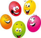 Happy easter eggs illustration Royalty Free Stock Photography