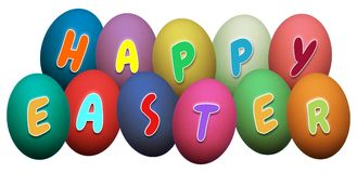 Happy Easter Eggs Royalty Free Stock Photos