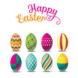 Happy Easter eggs isolated on white Royalty Free Stock Image