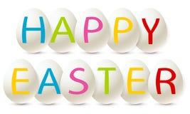 Happy easter eggs Stock Photo