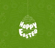 Happy easter eggs ornament card Royalty Free Stock Images