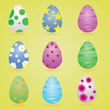 Happy easter. Eggs rabbit celebrities Royalty Free Illustration