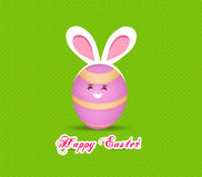 Happy easter eggs with rabbit ears Royalty Free Stock Photos