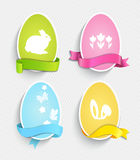 Happy Easter eggs. Happy Easter eggs with ribbon, vector illustration Stock Images