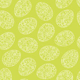 Happy Easter eggs seamless background. Vector bright spring pattern. Holiday background lacy surface texture. Ornamental wallpaper. Can be used for wallpaper stock illustration