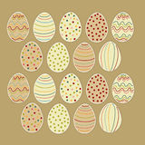 Happy Easter eggs set Royalty Free Stock Photos