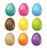 Happy easter eggs set. Stock Photo