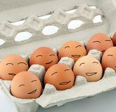 Happy easter eggs smiling Stock Photos