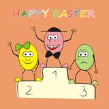 Happy easter-eggs Stock Image