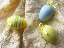 Happy easter eggs. Vontage decoration Royalty Free Stock Photo