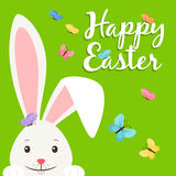 Happy easter elements for banner Royalty Free Stock Image