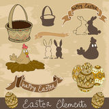 Happy Easter elements set Stock Photography