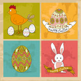 Happy Easter elements set Stock Images
