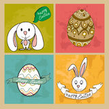 Happy Easter elements set Stock Image